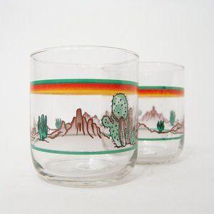 90s Desert Vista Old Fashion Glasses